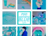 Photoshop Templates Tumblr Psd Aesthetic Blue by Patyoor99 On Deviantart