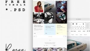 Photoshop Templates Tumblr theme Design Template for Tumblr Freebiesbug