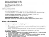Physical therapy Student Resume Physical therapy Resume Sample Http Resumesdesign Com
