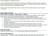 Pick Packer Cover Letter Picker Packer Cv Example Icover org Uk