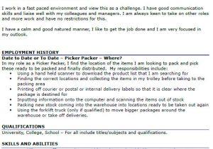 Pick Packer Cover Letter Picker Packer Cv Example Icover org Uk