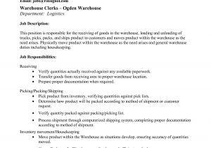 Pick Packer Cover Letter Picker Packer Resume Warehouse order Picker Resume Pdf