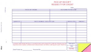 Pick Up Receipt Template Auto Parts Pick Up Receipt form Buy now Estampe