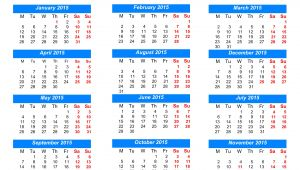 Picture Calendar Template 2015 2015 Year Calendar Printable 2017 Printable Calendar