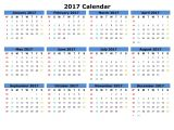 Picture Calendar Template 2017 Printable 12 Month Calendar Template 2017 Calendar