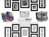Picture Hanging Template Kit Galleon Gallery Perfect 7 Piece Black Wood Photo Frame