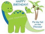 Pin the Tail On the Dinosaur Template Dinosaur Pin the Tail On the Dinosaur Birthday Game You