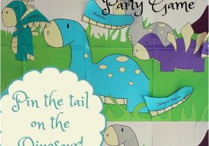 Pin the Tail On the Dinosaur Template Pin the Tail On the Dinosaur Party Game Diy Instant