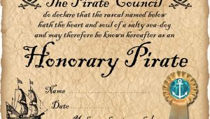 Pirate Certificate Template Honorary Pirate Certificate Rooftop Post Printables