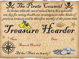 Pirate Certificate Template Pirate Certificate Treasure Hoarding Award Rooftop Post