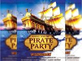 Pirate Flyer Template Free Pirate Party Premium A5 Flyer Template Exclsiveflyer