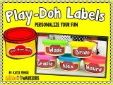 Playdough Templates Personalized Editable Play Doh Labels Freebie Little