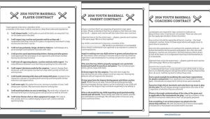 Player Coach Contract Template Free Baseball Coaching Resources Spiders Elite