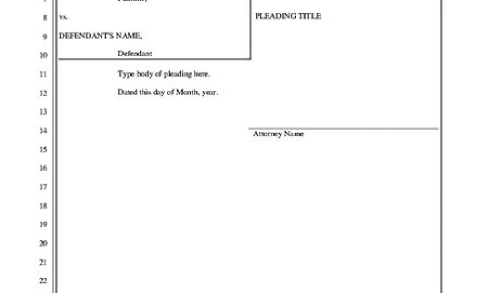 pleadings template legal pleading paper 28 lines