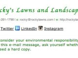Please Consider the Environment before Printing This Email Template Get A Free Landscaper Email Signature Professional