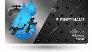 Plumbing Visiting Card Background Design Sample Business Card Repair Plumbing Design Stock Vector
