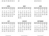 Pocket Calendar Template 2017 Free Printable Pocket Monthly Calendar 2016 Calendar