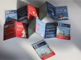 Pocket Size Mini Brochure Template Leaflet Card Design for Mini Brochure Profile Design