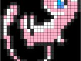 Pokemon Perler Bead Template Pokemon Mew Perler Bead Pattern Bead Sprites