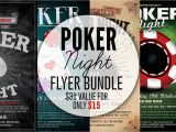Poker Flyer Template Free Poker Night Flyer Template Bundle Flyer Templates
