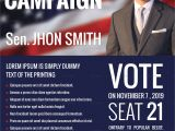Political Flyers Templates Free Political Campaign Flyer Design Template In Word Psd