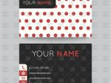 Polka Dot Business Card Templates Free Business Card Templates with Polka Dot Royalty Free Vector