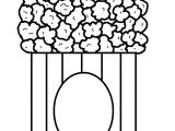 Pop Corn Template Popcorn Coloring Pages to Download and Print for Free