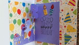 Pop Up Birthday Card Handmade Balloon Pop Up Bday Card Balloon Pop Cards