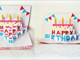 Pop Up Birthday Card Handmade Handmade Birthday Greeting Card Diy Birthday Pop Up Card