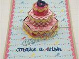 Pop Up Birthday Card Handmade Karen Burniston Cake Pop Up Birthday Cards Diy Birthday