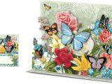 Pop Up Card Flower and butterfly butterfly Blooms Pop Up Card Punch Studio Fairyglen