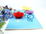 Pop Up Card Flower and butterfly Flower and butterfly Pop Up Card – Kiri Card
