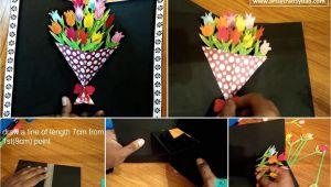 Pop Up Card Flower Bouquet Flower Bouquet Pop Up Card Flowers Bouquet Alphabet Word
