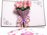 Pop Up Card Flower Mothers Day 3d Up Mothers Day Flowers Greeting Card with Carnation