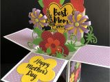 Pop Up Card Flower Mothers Day Amazon Com Mothers Day Card Handmade Card Flower Card