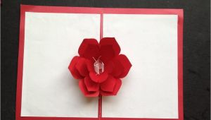 Pop Up Card Flower Template Easy to Make A 3d Flower Pop Up Paper Card Tutorial Free