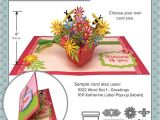 Pop Up Card Flower Template Flower Pot Pop Up Die Set with Images Pop Up Flower