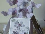 Pop Up Card Flower Tutorial Birthday butterfly Card In A Box Nellies Nest Box Cards