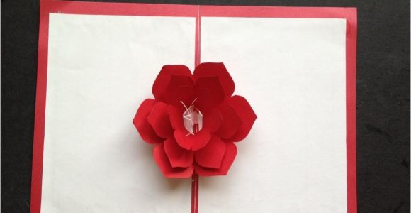 Pop Up Card Flower Tutorial Easy to Make A 3d Flower Pop Up Paper Card Tutorial Free