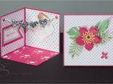 Pop Up Card Flower Tutorial Paper Blossom Blumige Aufstellkarte Karten Geschenke Aufsteller