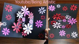 Pop Up Card Flower Tutorial Paper Blossom Easy Way to Make Flower Pop Up Card 12 Paper Crafts Handmade