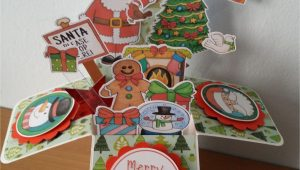 Pop Up Christmas Card Diy Pop Up Box Card Christmas Card Made with Kate Hadfield