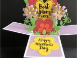 Pop Up Flower Card for Mother S Day Amazon Com Mothers Day Card Handmade Card Flower Card