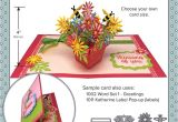 Pop Up Flower Card Template Flower Pot Pop Up Die Set with Images Pop Up Flower