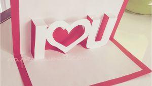 Pop Up Valentine Card Template Pop Up Valentines Card Template I A U Pop Up Card