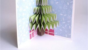 Pop Up Xmas Card Diy Christmas Tree Pop Up Card Pop Up Christmas Cards Diy