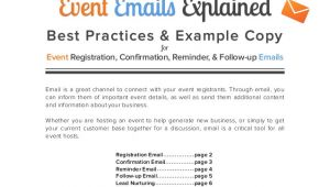 Post event Follow Up Email Template 4 event Emails Explained