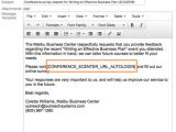 Post event Survey Email Template Faq N101 How Do I Create and Distribute Training event