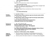 Post Graduate Fresher Resume format Resume format for Applying Lecturer Post Resume format