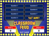 Power Point Game Templates Family Feud Powerpoint Template Classroom Game
